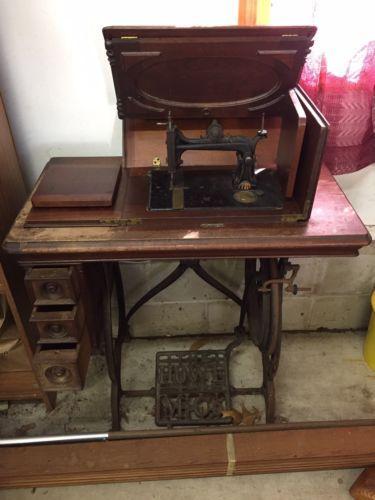 Antique-Elias-Howe-Sewing-Machine