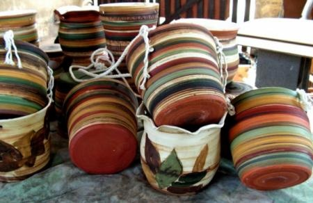Macetas colgantes de cer mica maceta colgante o for Oxidos para ceramica