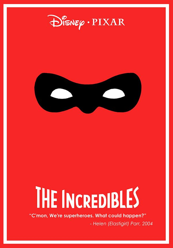 The Incredibles (2004) ~ Minimal Movie Poster by Ben Xue #amusementphile