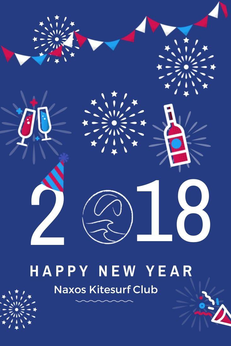 ✨Best Wishes For a Healthy, Productive and Windy  2018 from Naxos Kitesurf Club Team #naxoskitesurf #naxosglyfada #kitesurfing #beautifuldestination