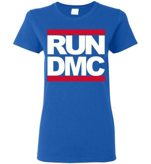 RUN DMC Hip Hop , v1b, Gildan Ladies Tee