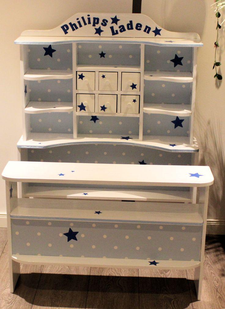 kaufladen wei blau sterne domis pusteblume pinterest. Black Bedroom Furniture Sets. Home Design Ideas