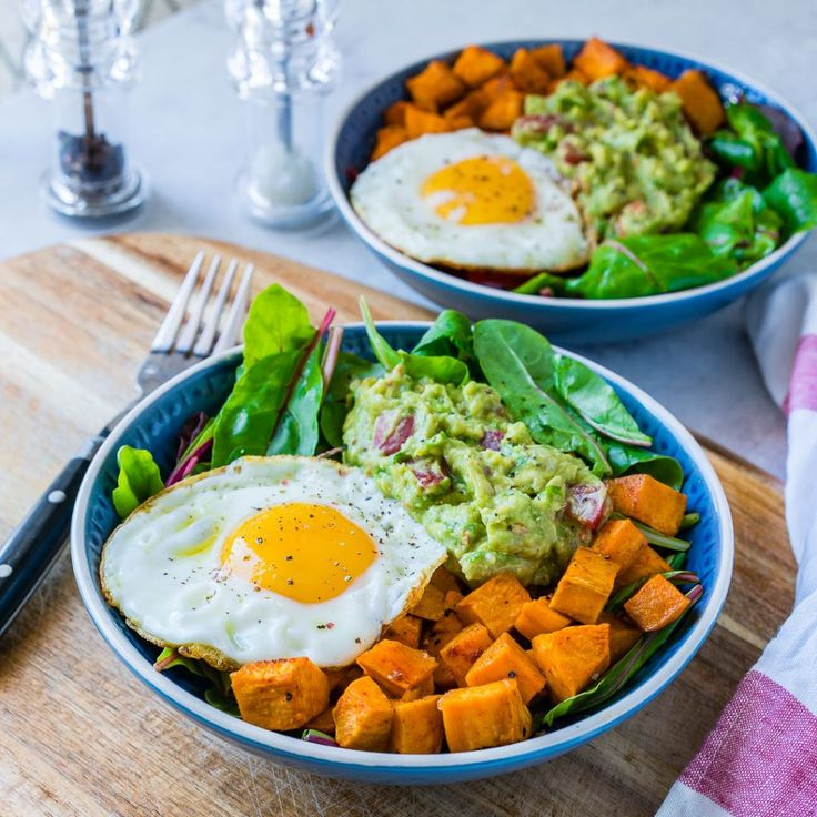 Clean Eating Guacamole, Egg + Sweet Potato Breakfast Bowls! - Clean Food Crush
