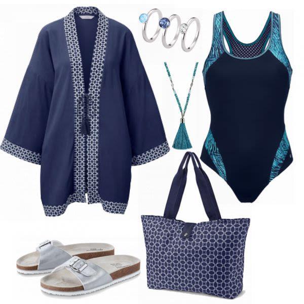 Sommer-Outfits: Tchibo kimono bei FrauenOutfits.de #mode #damenmode #frauenmode …