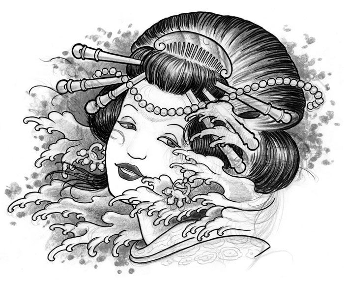 44 best dragon geisha tattoo drawings images on pinterest geisha tattoos geishas and geisha. Black Bedroom Furniture Sets. Home Design Ideas