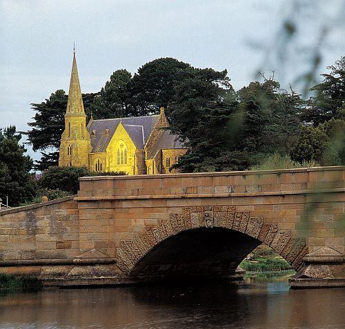 Ross bridge and church, Tasmania