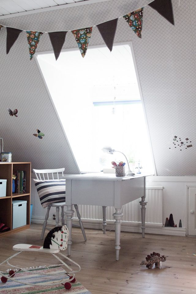 Little Walters calm bedroom in my friend Louise's home in a converted school / my Scandinavian home blog