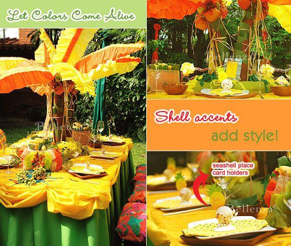 Caribbean Theme Party Napkins