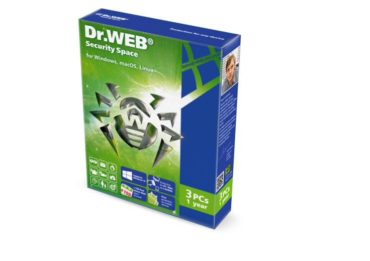 Dr. Web Security Space 3pc – 1yr