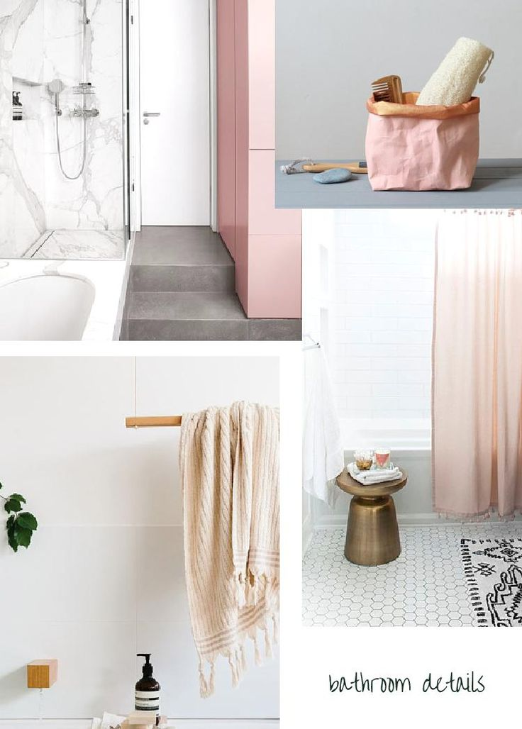 4 Ways To Get The Pink, Modern Bathroom Look