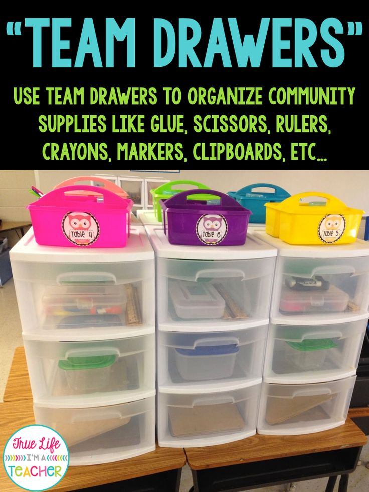 True Life I'm a Teacher: How to Keep Community Supplies Organized