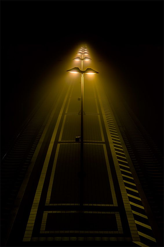 Rainer Burkard photo - the warmth of the lights in the dark brings an interesting feeling