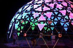What do you get when you combine a 40 foot diameter geodesic dome with LED strips and acrylic panels? Apparently something really amazing, as seen in the v