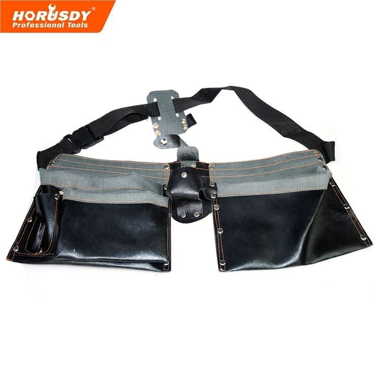 best price horusdy electrician 8 pocket carry belt tool bag leather utility kit holder leather #electricians #tool #belt