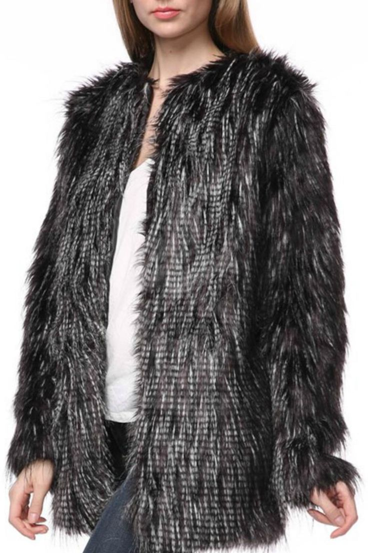 Gorgeous black to grey faux fur jacket. Layer over a LBD for a rockstar look.    Faux Fur Jacket by Pretty Little Things. Clothing - Jackets, Coats & Blazers - Faux Fur & Fur New Hampshire
