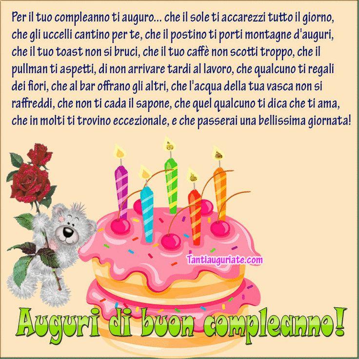 Per il tuo compleanno ti auguro
