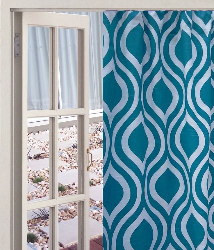 "Aquarius Teal and White 84"" Long Teardrop Full Length Curtains, 100% quality cotton Slub Premier Prints drapery fabric. Aquarius Teal and White Full Length Teardrop Curtains, 52"" Wide by 84"" Long; 100% quality cotton Slub, Premier Prints home décor weight drapery fabric. Please allow 7-14 days for delivery, as the curtains are handmade after your purchase to keep inventory costs low. Keeping inventory costs low helps keep the price of this item at a reasonable price. The curtain is ~52""…"