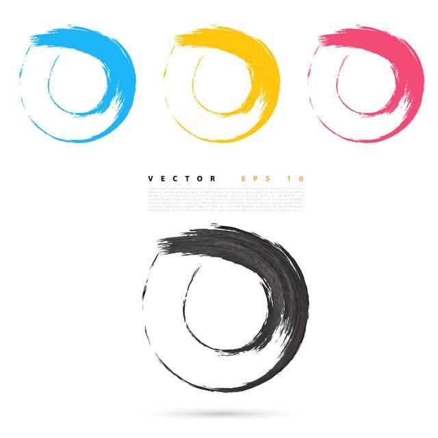 بنان مجموعة دوائر ملونة زاهية الجرونج ناقلات عناصر التصميم خلاصة الاكريليك فن Png والمتجهات للتحميل مجانا Circle Logo Design Design Elements Color Circle