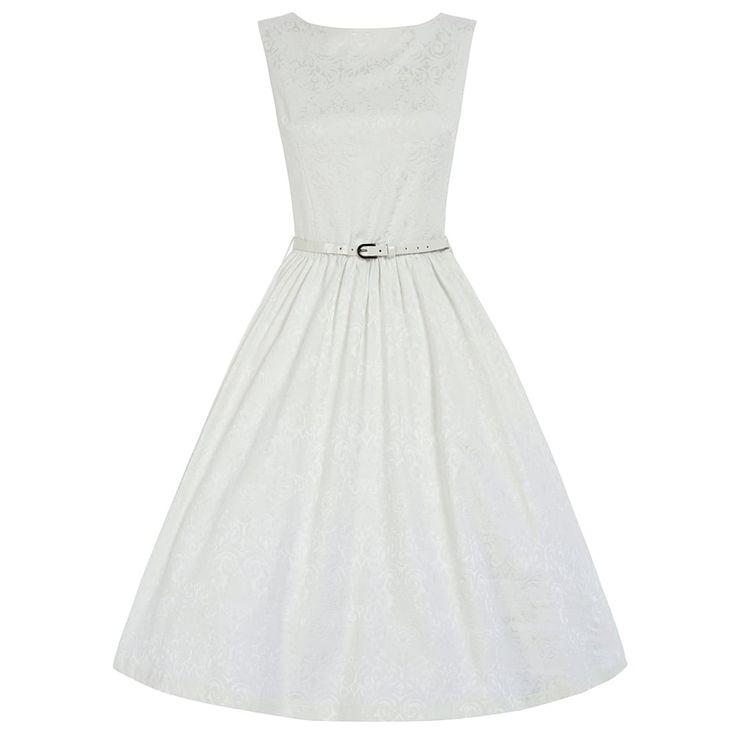 Bílé Retro Šaty Blanka Straka Lindy Bop