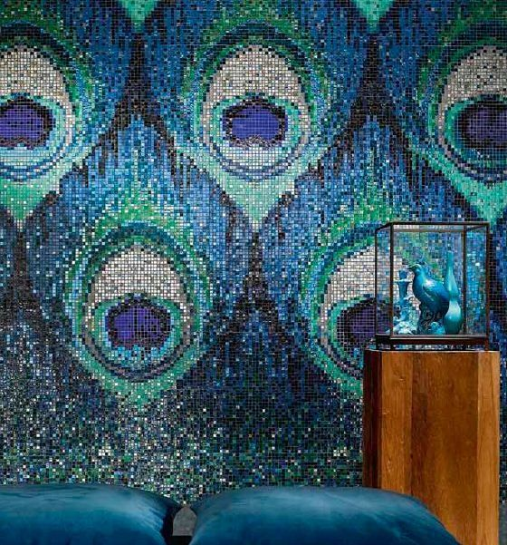 Peacock Feather Mosaic Tiles.