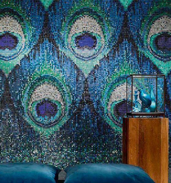 peacock feather mosaic tiles - Mosaic Tile Design Ideas