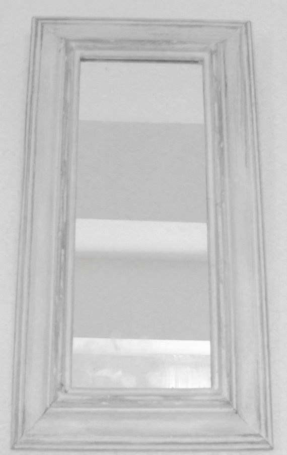 Small Hanging Mirror  Cottage Chic by JoyfulMoonDesigns on Etsy, $22.00