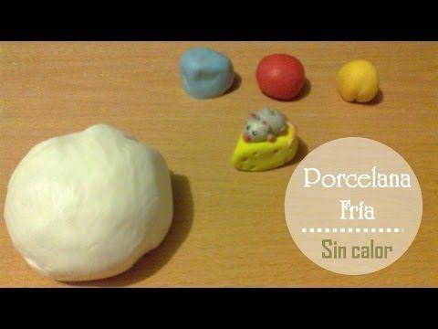 Porcelana fría: Preparala sin usar fuego | Masa flexible para moldear - YouTube
