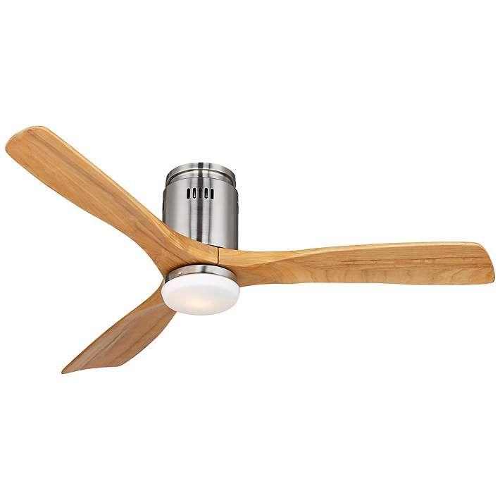 "52"" Possini Euro Design Admiralty Brushed Nickel Ceiling Fan - #Y3704 | Lamps Plus"