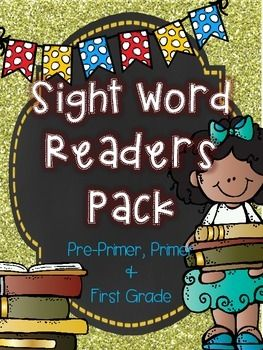 """Learning sight words is a key component in all grades, especially in the early grades. It can be very difficult for some students. My students learn sight words best with these sight word readers. They love that they get to write in the sight words to complete each sentence, color the pictures, follow each word as reading left to right by putting their finger on the black dots to follow the words, and check off each reading skill they master from their """"I Can"""" checklist."""