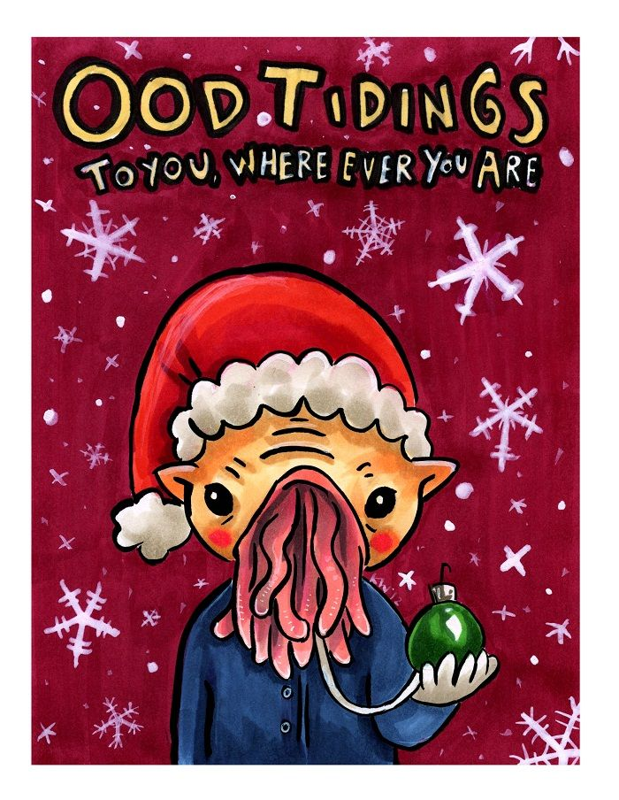 Ood Tidings. My #doctorwho Christmas card this year for sure ...
