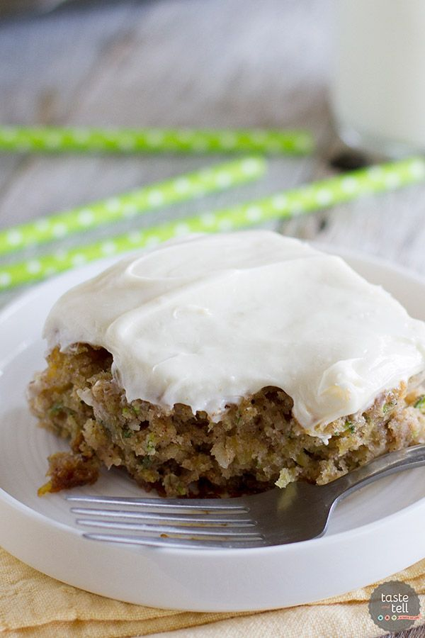 Zucchini Pineapple Cake Cream Cheese