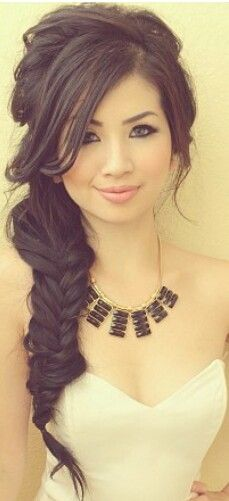 Incredible 1000 Ideas About Fishtail Braid Wedding On Pinterest Braided Hairstyle Inspiration Daily Dogsangcom