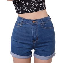 Casual 2018 Summer Vintage High Waisted Denim Women Shorts Plus Size Slim Stretch Turn Ups Cute Female Jeans Shorts Waist //Price: $US $9.88 & FREE Shipping //   #accessories #glasses #hats #clothes #jewerly #home