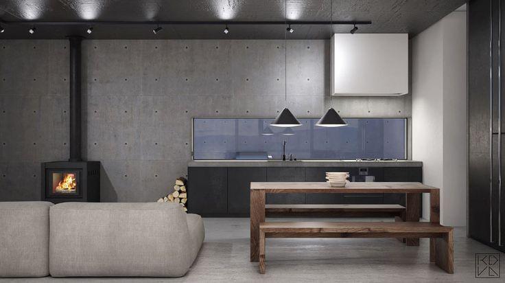 Un design minimaliste, scandinave et industriel pour cette belle maison secondaire au Norvège