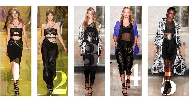 Milan Fashion Week Spring/Summer 2014 Bandeaus Trend Top Ten Looks ...