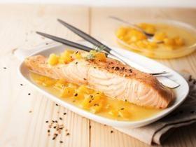 Saumon sauce au poivron au Cookéo