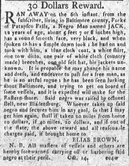 In today's guest post, Shaun Wallace examines slave runaway advertisements in the early republic.