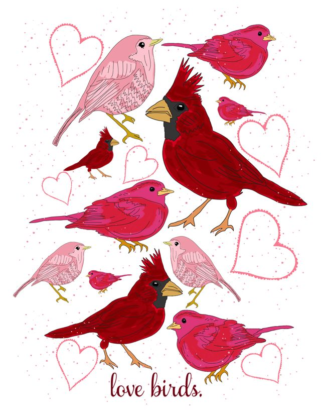 Valentine's Day bird print from IROCKSOWHAT inspired by http://BHG.com more details here http://www.irocksowhat.com/2012/02/free-love-birds-print.html