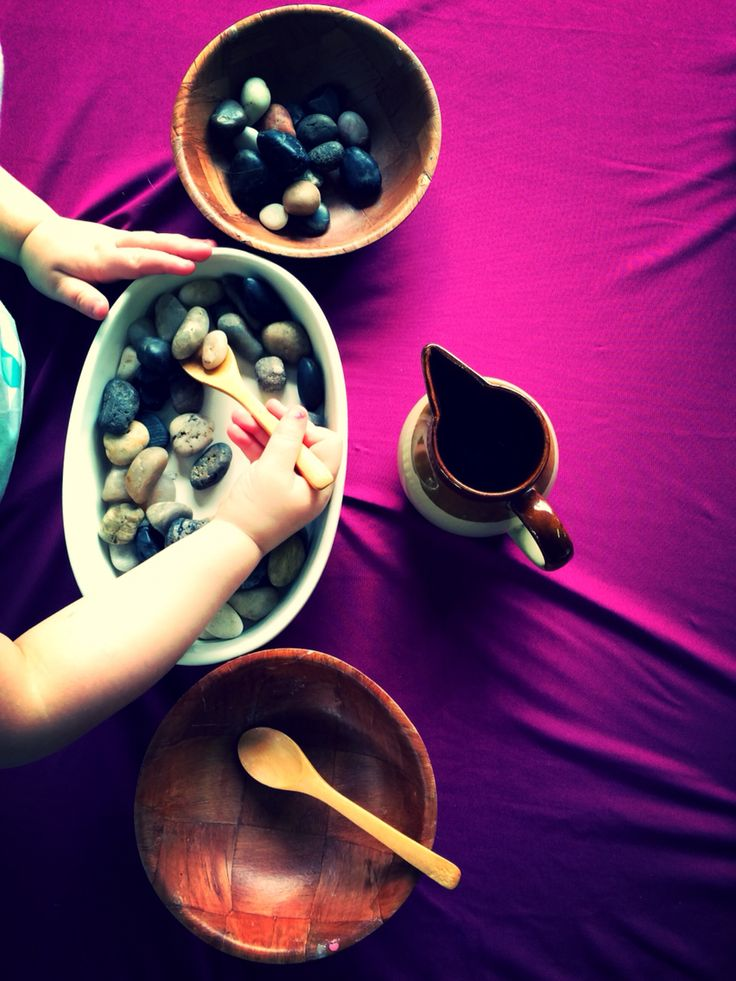 Use natural materials in your home corner to promote imaginative play and sensory skills.