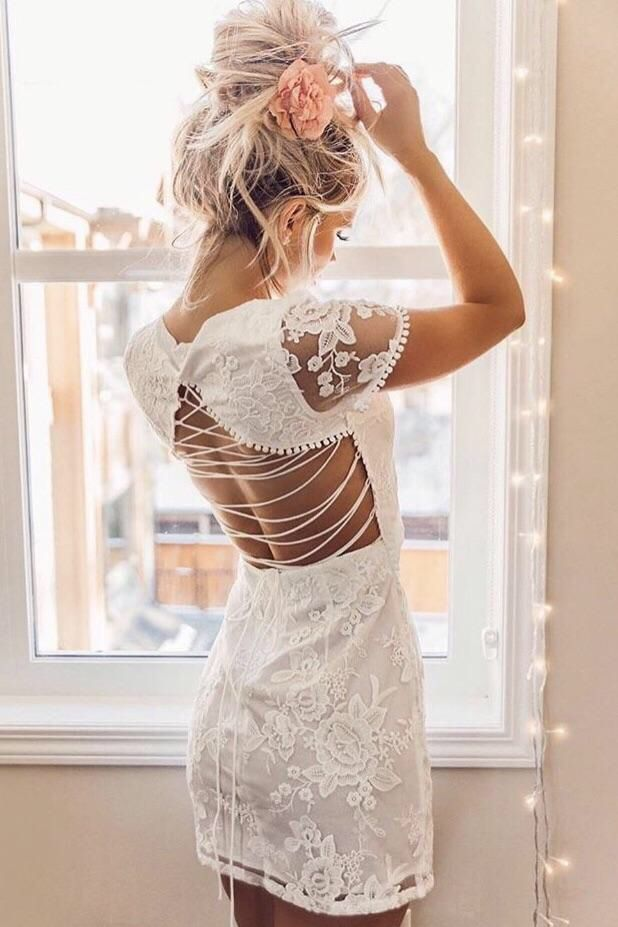 Shay Lace Dress White Lace Homecoming Dresses Lace Dress Summer Bridesmaid Dresses