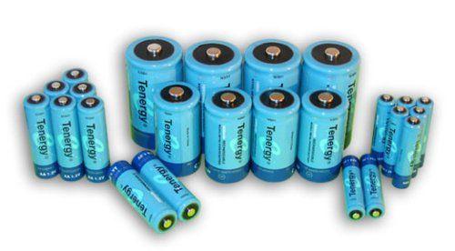 Tenergy High Capacity NiMH Rechargeable Combo with 24 batteries 8AA/8AAA/4C/4D  $58.99+9.33 Amz