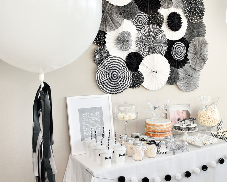 Black And White Party Table Decorations Ideas Decoration For Home