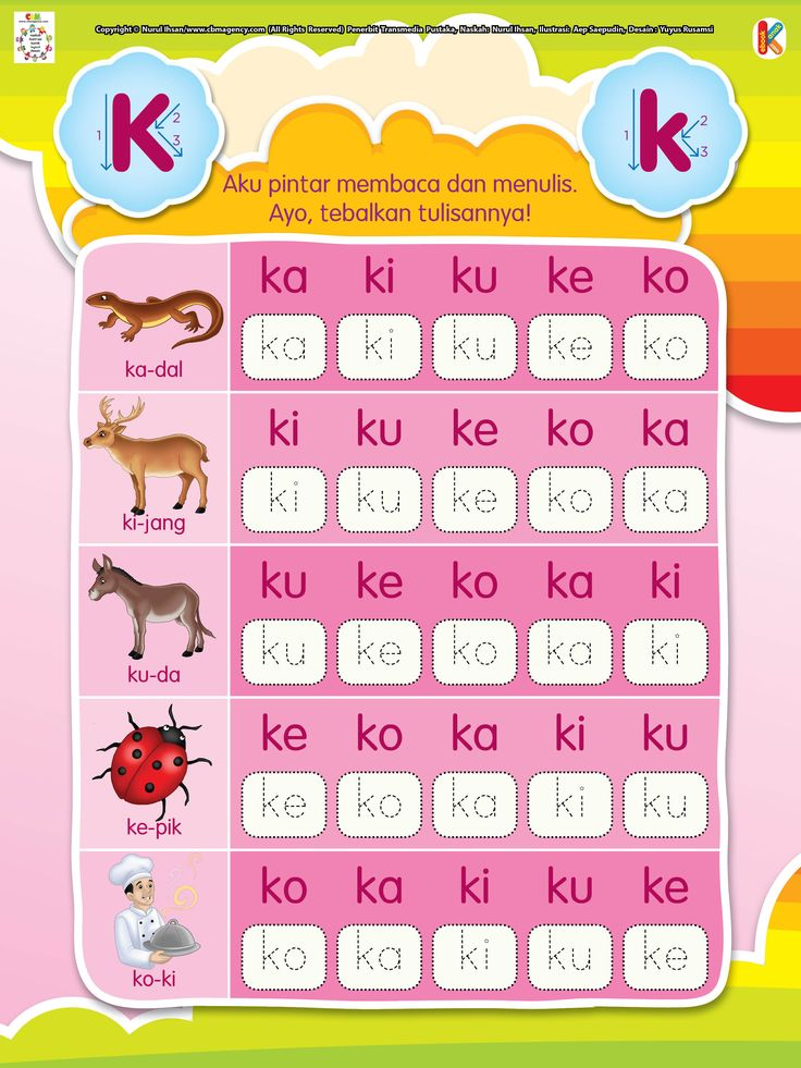 Pintar Membaca dan Menulis Huruf K | Ebook Anak