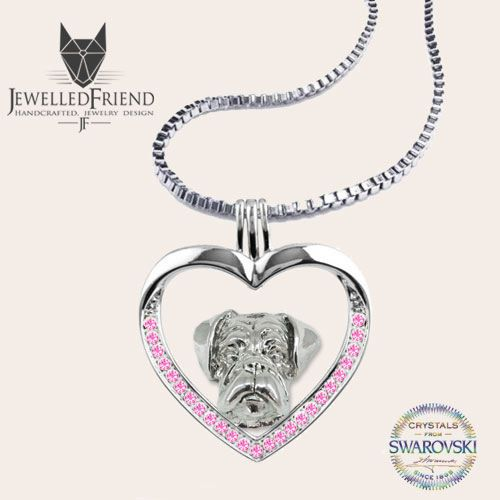 Check out Boxer dog jewelry necklace pendant with swarovski crystal-Sterling Silver-Personalized Pet Necklace-Dog lover gift-Custom Dog Necklace-Pet on jewelledfriend