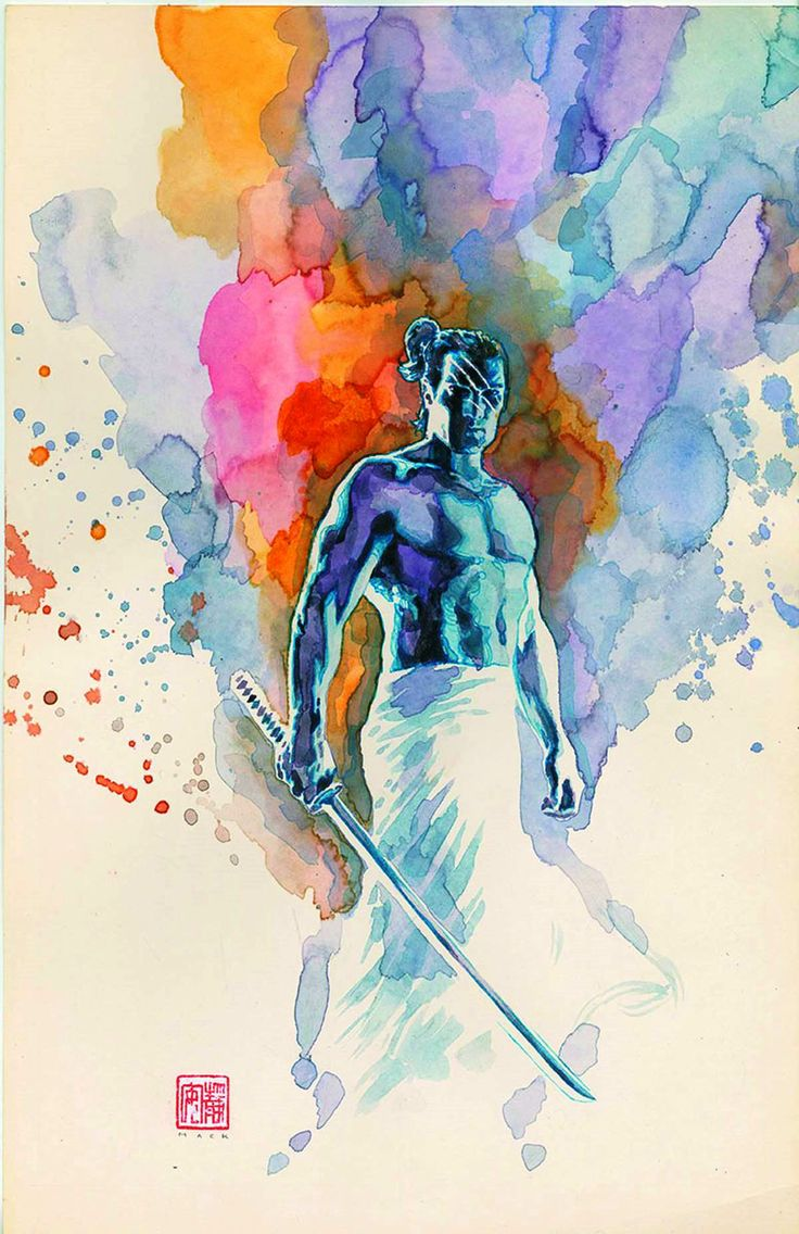 Watercolor book covers - Valiant Entertainment S Eternal Warrior Cover Art By David Mack