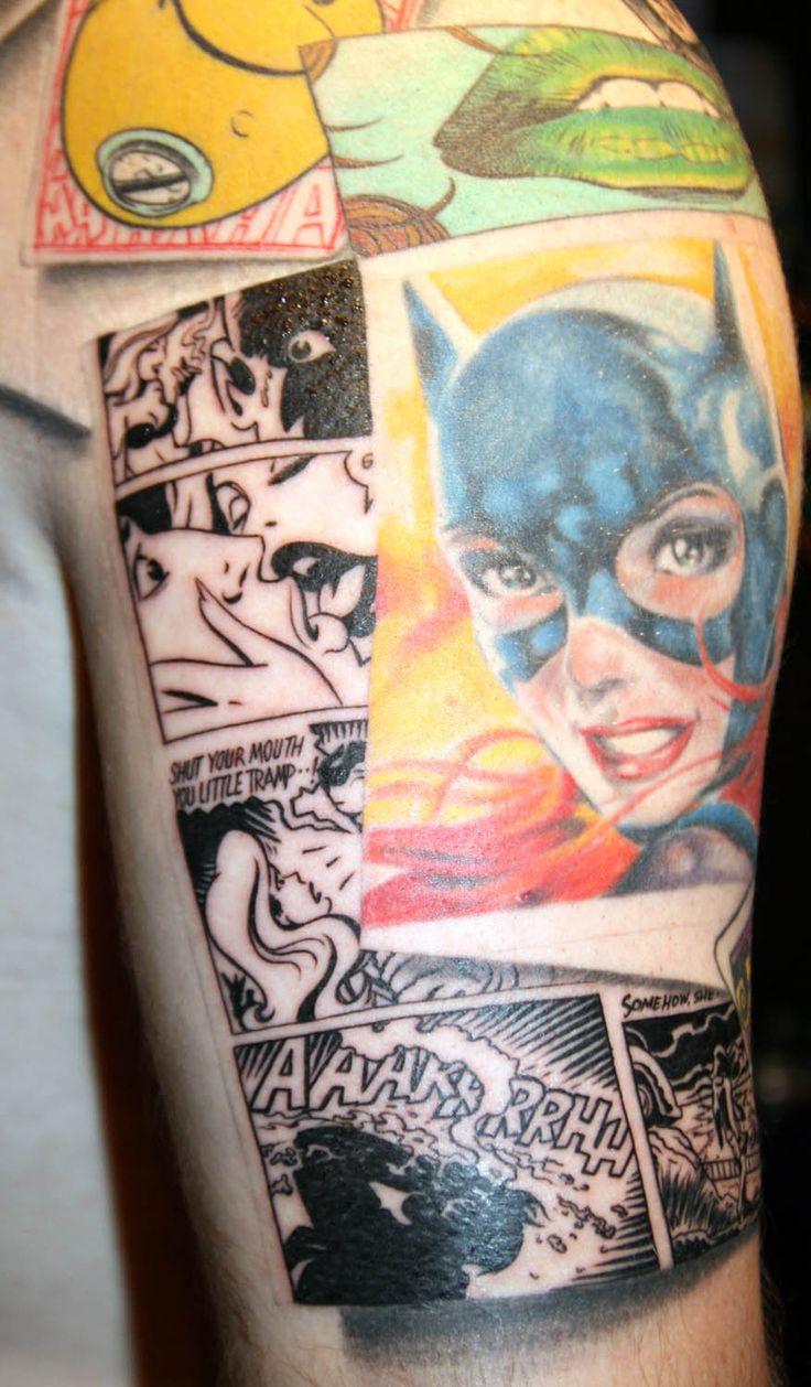 Flaming art tattoo for geek tattoo lovers this kind of batman - Batman Tattoo Sleeve By Carlyshephard On Deviantart