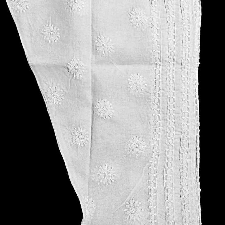 White Cotton Chikankari Salwar