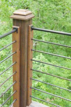 steel and rebar deck railing idea - Terrassen Gelander Design