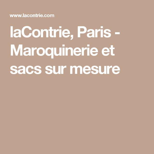 laContrie, Paris - Maroquinerie et sacs sur mesure