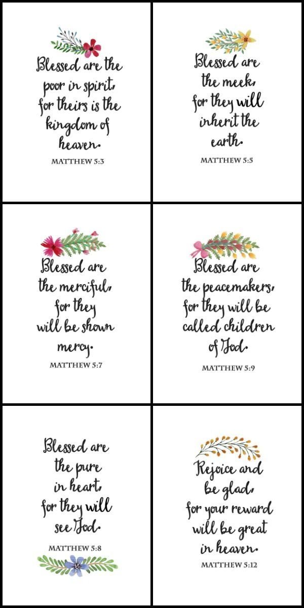 the beatitudes printable wall art and cards best pins